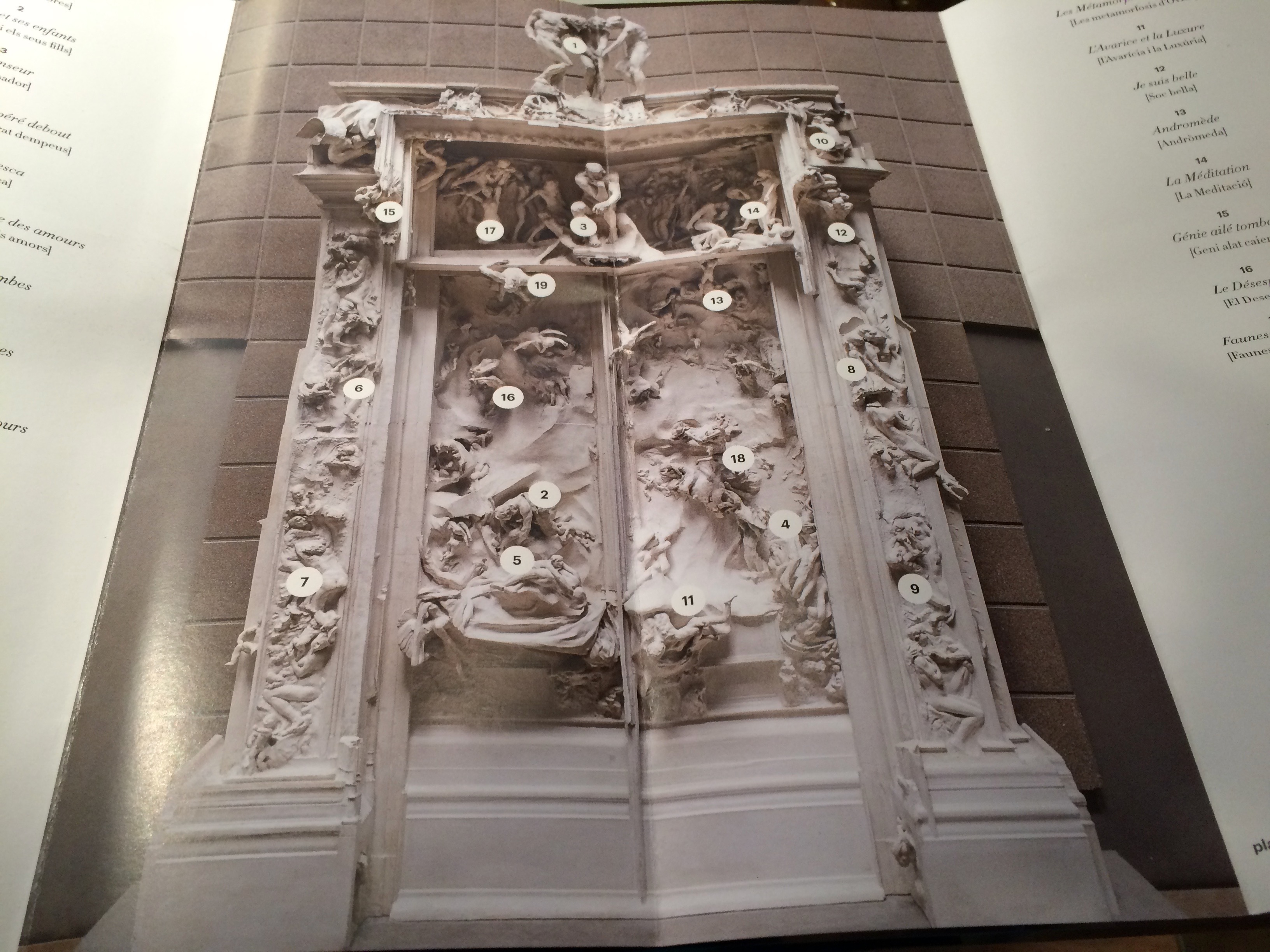 L'infern de Rodin. Fundación Mapfre. Programa de mà
