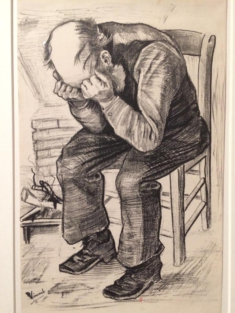 Vincent van Gogh. At eternity's gate.. La Haya, 1882. Litografia sobre paper