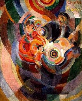 Sonia Delaunay Chanteurs Flamenco (dit Grand Flamenco) Gran Flamenco Óleo-Cera.1915-16. Fundación Calouste Gulbenkian - Lisboa