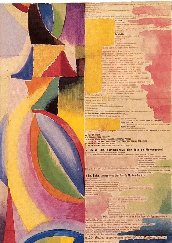 Poema Blaise Cendrars. Sonia delaunay