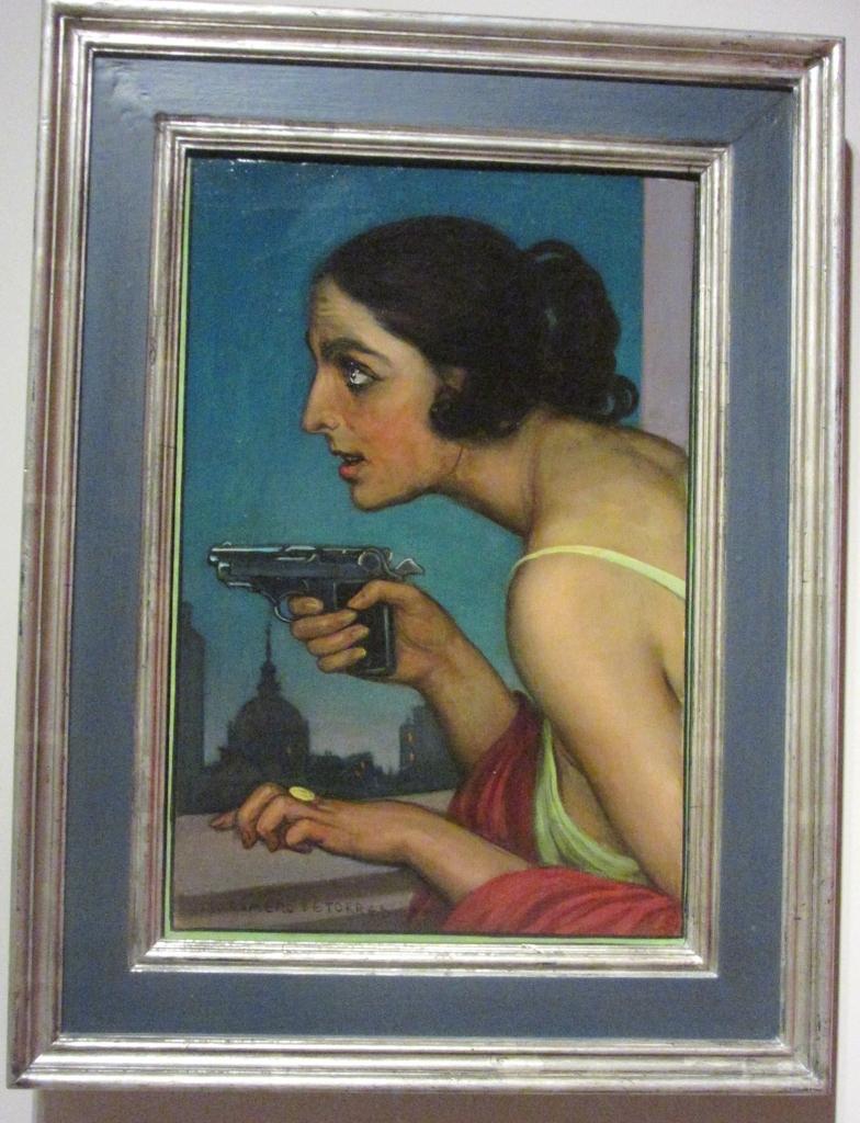 Julio Romero de Torres. Mujer con pistola. 1925. Fundación MAXAM Madrid