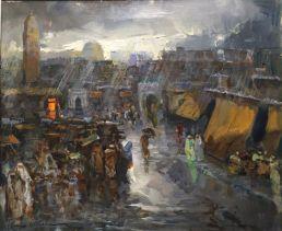 Lluvia en Marrakech. Cruz Herrera