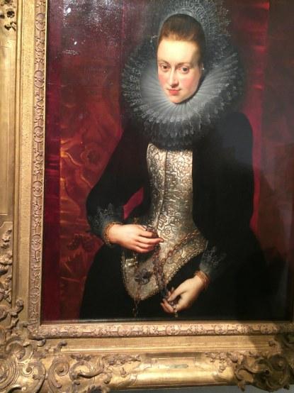 Rubens. Retrat d'una dona jove amb rosari. Col·lecció Thyssen