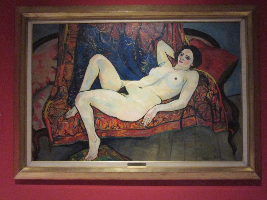 Suzanne Valadon. Desnudo en un sofá rojo. 1920. Association des Amis du Petit Palais. Ginebra