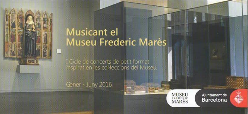 Cartell Musicant el Museu Frederic Marès