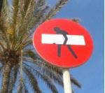 Senyal de prohibició de Clet