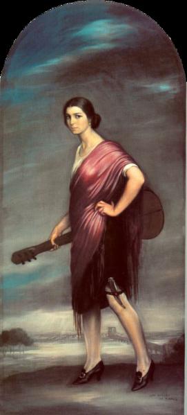 Julio Romero de Torres. La copla. 1927