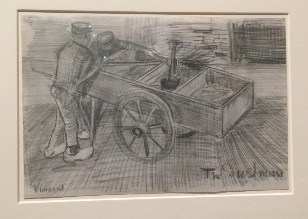 Vincent Van Gogh. The dustman. La Haya. 1983. Carbonet