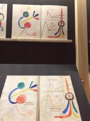 Arxiu Fundació Miró. Maqueta i pàgina final del llibre À toute épreuve