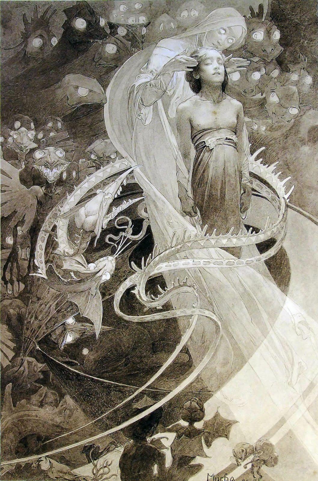 Alphonse Mucha. Il·lustració Le pater