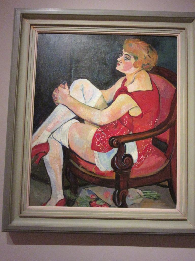 Suzanne Valadon. Mujer con medias blancas. 1924. Musée des Beaux-Arts Nancy