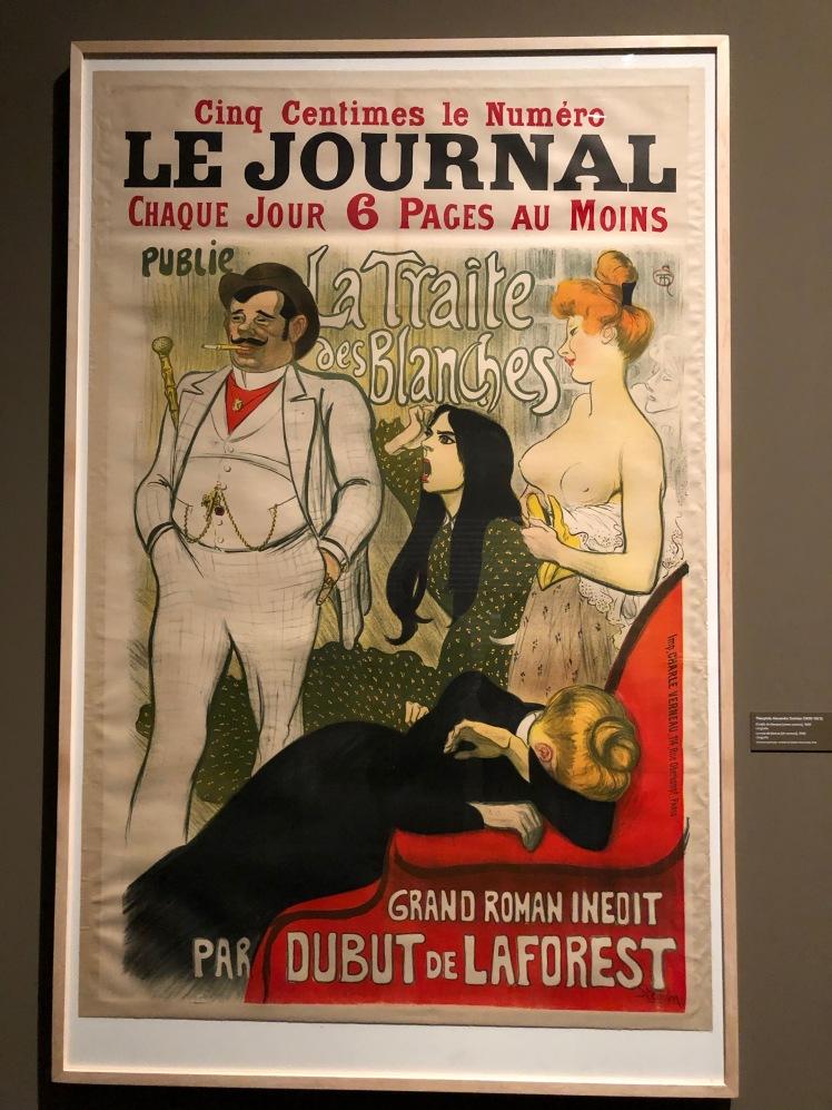Steinlen. El tràfic de blanques, 1899. Litografia