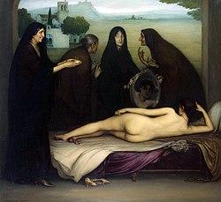 Julio Romero de Torres. El pecado. 1912. Museo Julio Romero de Torres. Córdoba.