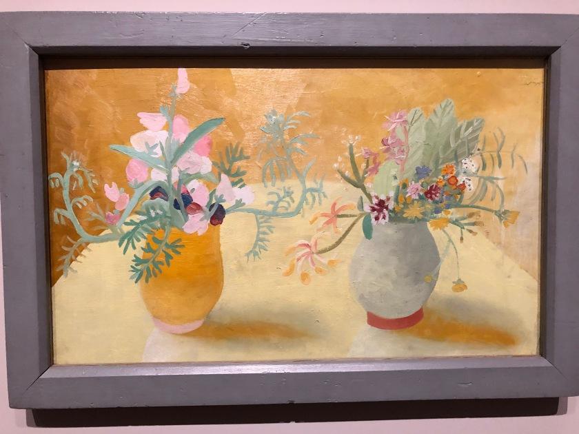 Winifred Nicholson. Honeysuckle and Sweetpeas. 1945-46