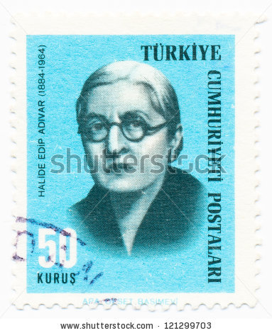 Segell turc amb el retrat d'Halide Edip Adivar