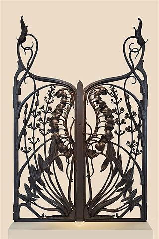 Grille art nouveau du ferronnier Emile Robert (musée de lEcole de Nancy)