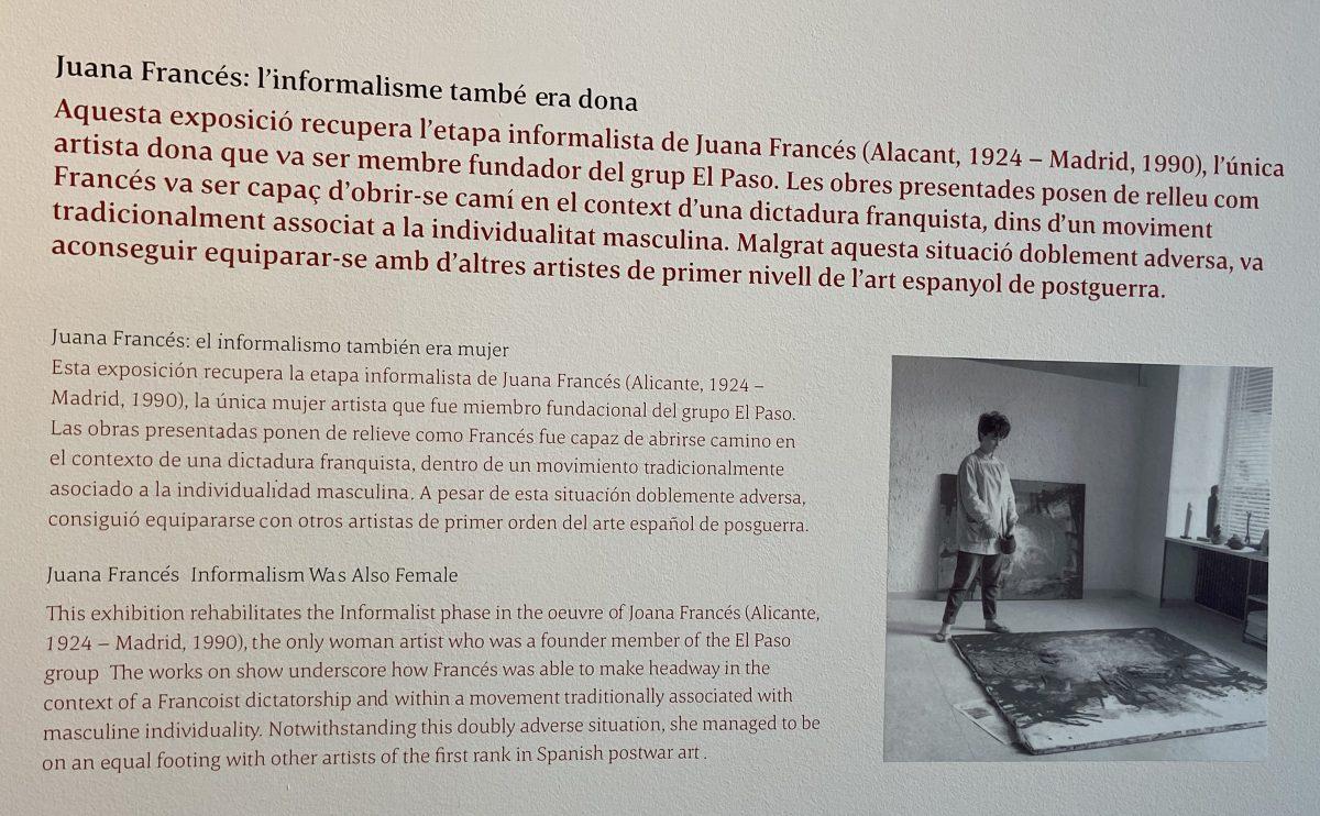 Joana Francés. Galería MayoralBarcelona