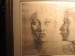 Maruja Mallo. Cabeza de mujer, de frente y de perfil. 1947. Galeria Guillermo de Osma