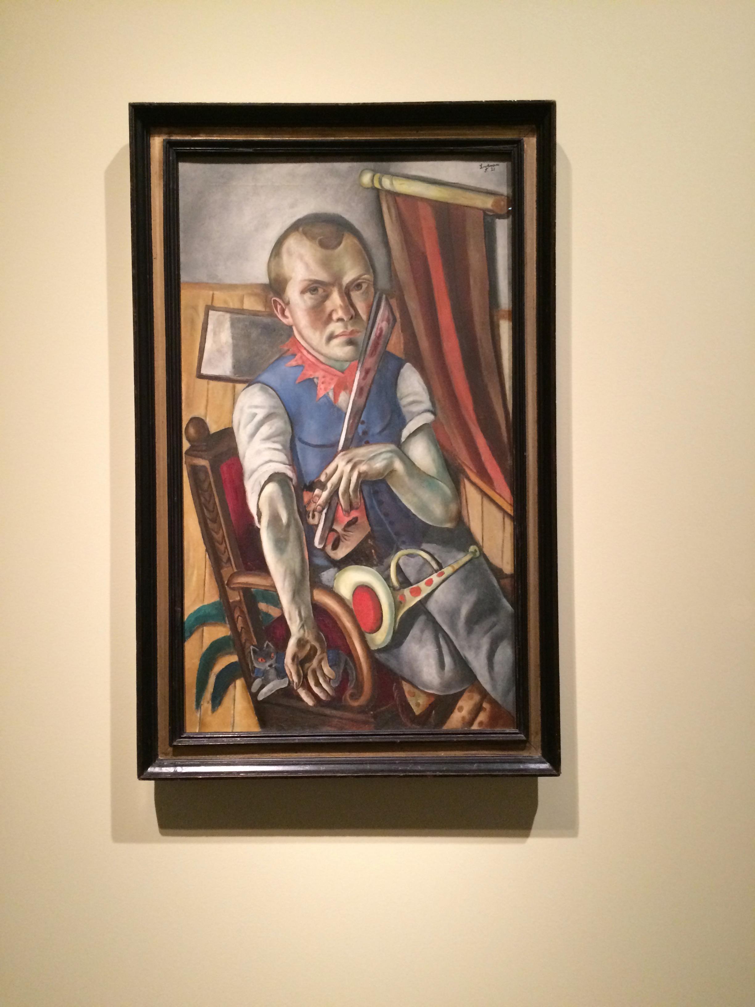 Max Beckmann. Autoretrat com a pallasso. 1921