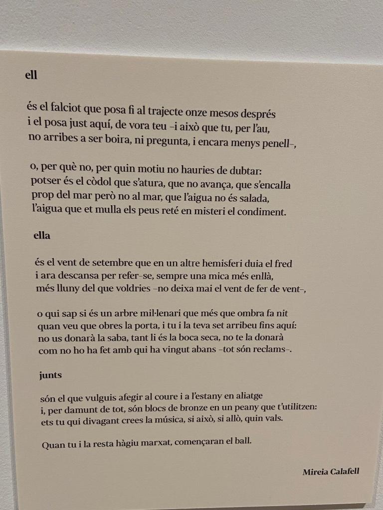 Mireia Calafell. Cartel·la en diàleg amb l'obra de Susana Solano. Fundació Suñol