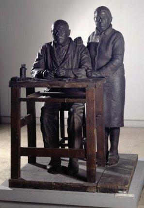 Julio López. Pareja de artesanos. 1965